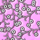 Folk Floral in lilac