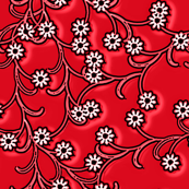 Electric Red floral