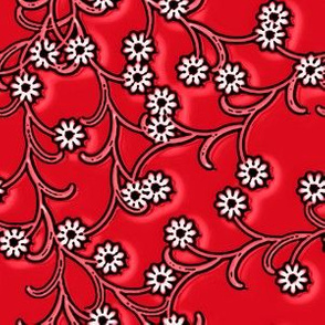 Doll Electric Red floral