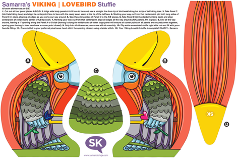 Samarra's Viking | Lovebird Stuffie