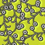 Folk Floral spring green