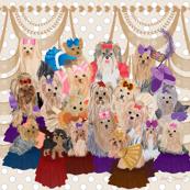 Yorkie Princess Pilow Fabric