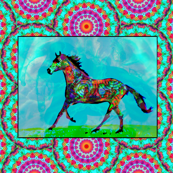 A Celtic Horse, In Mythic Fields (left facing)