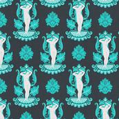 Small Venus Damask Turquoise