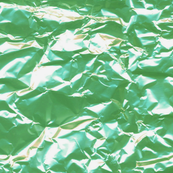 green foil candy wrapper