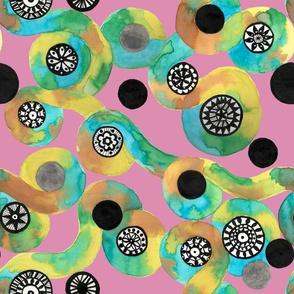 watercolor circle lace