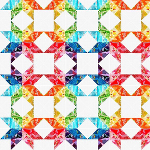 Rainbow Star Quilt Blocks 2
