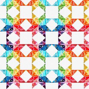 Rainbow Star Quilt Blocks 2