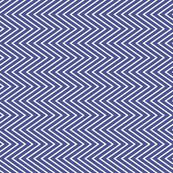 Zig zag african blue/white