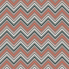 CHEVRON RETRO CORAL MINT WHITE BLACK