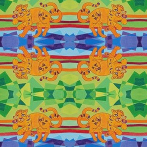 Cubist Leopard