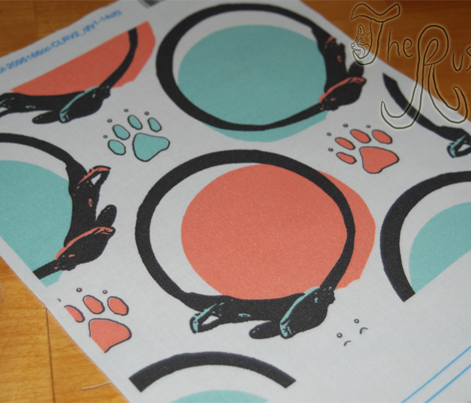 Paw prints and collars - Spoonflower special C