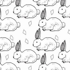 b&w rabbit - elvelyckan
