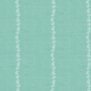 Madenhair Stripe on RegencyTurquoise