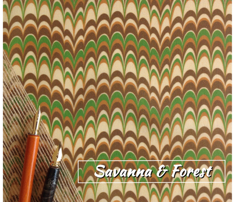 Marbling-Comb : Savanna and Forest