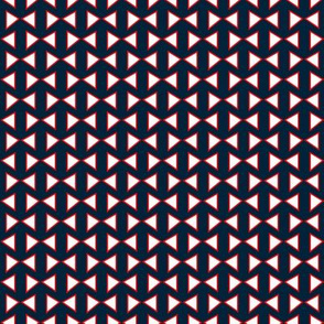 Geometric bow tie (white red and blue)
