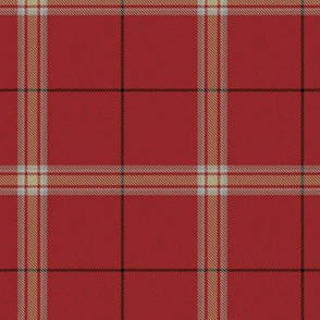 Custom Red Cream White Plaid (Revised)