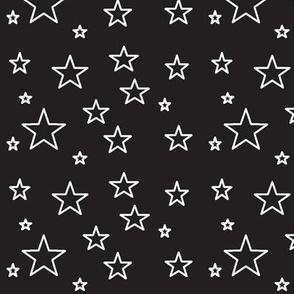 stars-black white