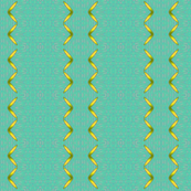 Ribbon gold on green