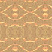 Wavy ribbon yellow on brown