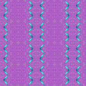Zig zag ribbon green on purple_