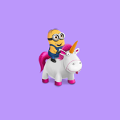 Minion Riding Unicorn - Mauve