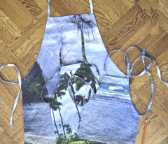 3 DIY Cut & Sew Aprons - Kauai 3Pack