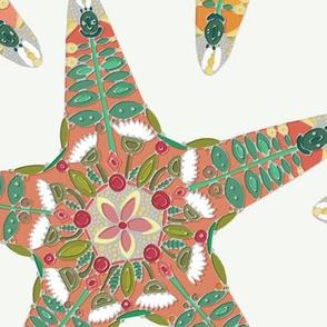 starfish flowers off white