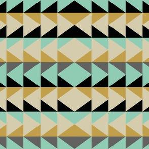 Triangle Stripes - Mint