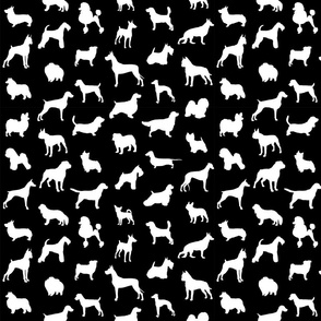 Mod-Dog Silhouettes White on Black Small Scale