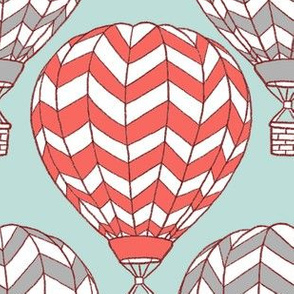hot air balloon on mint
