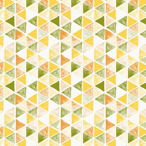 Watercolor Triangles - colorway 01 - citrus
