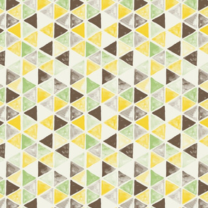 Watercolor Triangles - colorway 04 - lemon