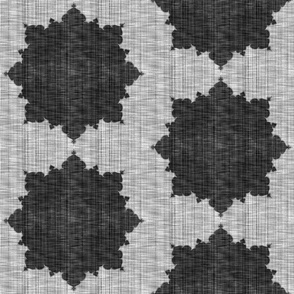 Starburst ~ Black and White Linen Luxe ~ Mediumer