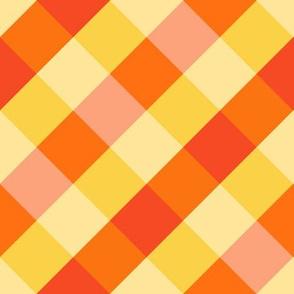 Magical Orange Gingham