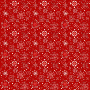 Red Snowflake Coordinating Print Xlg_6b