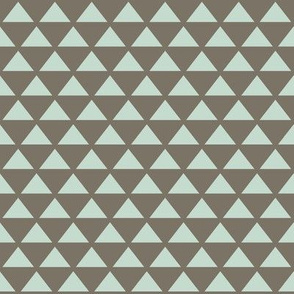 mocha soft mint triangles simple