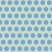 blue soft mint polka dot