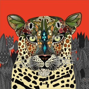 Leopard Queen coral custom 10 inch panel