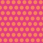 pink tangerine polka dot