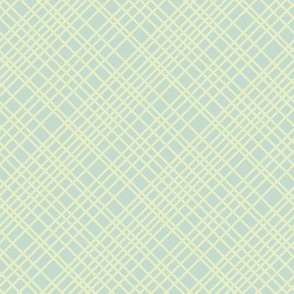 soft mint cream diagonal grid