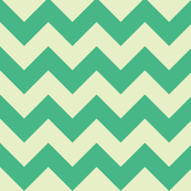 geo zoo chevron cream green