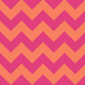 geo zoo chevron pink tangerine