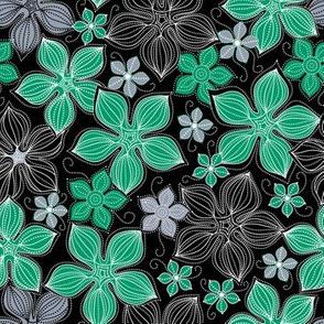 Tropic floral emerald