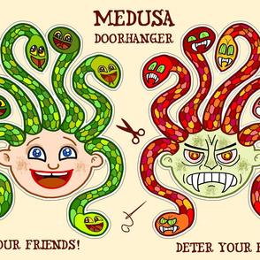 Medusa doorhanger plushie