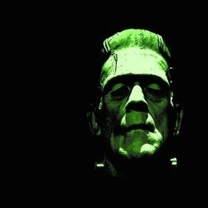 3d effect frankenstein in green