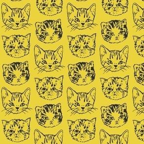 Cute Cats | Mustard Yellow