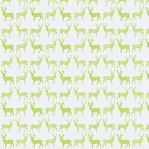 Lime Meadow Deer on White