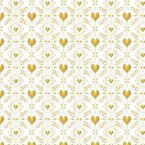 Golden Heart Damask
