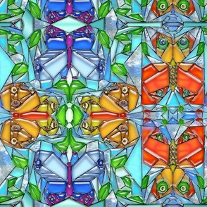 Stained Glass Butterfly Vines